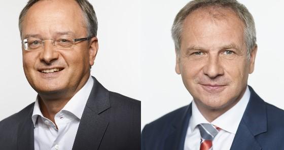 Mit Innenminister Reinhold Gall und Kultusminister Andreas Stoch