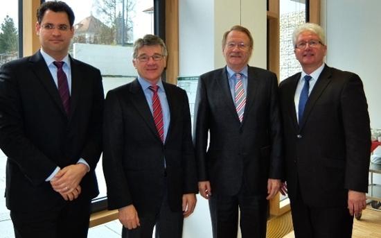 Dirk Seidemann, MdL Haller, MdL Drexler, Landrat Reinhardt