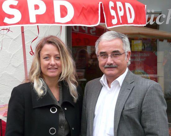 Claudia Sünder und der neue Fraktionsgeschäftsführer Clemens Stahl