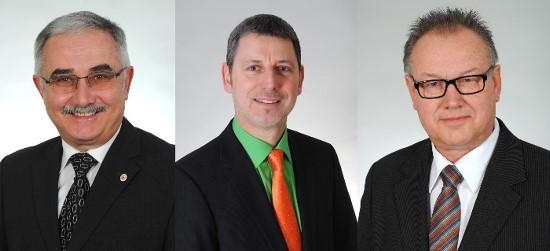 Die Kreisräte: Clemens Stahl, Hans-Dieter Diebold und Wilhelm Ozfolk
